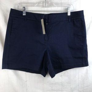 J Crew Navy Blue Chino Shorts Sz 14 NWT